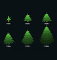 green christmas tree cartoon design vector image vector image