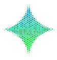 halftone blue-green sparkle star icon vector image