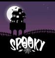 happy halloween spookey fun creative design vector image