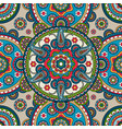 indian paisley mandala seamless pattern vector image
