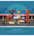 Karting Motor Race vector image
