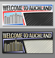 layouts for auckland vector image vector image