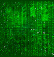 matrix stream binary data coding cyberspace vector image