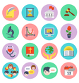 Modern Flat School Icons Set vector image vector image