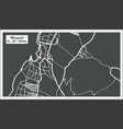 moroni comoros city map in retro style outline map vector image vector image