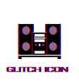 music center icon flat vector image