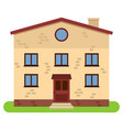 private two-storey house with chimney vector image