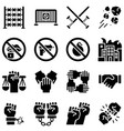 protest related icon set 3 solid style vector image