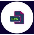 RAW computer symbol vector image vector image