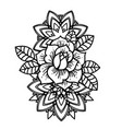rose tattoo mystic symbol flower with string vector image