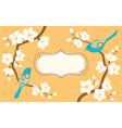 Sakura branches vector image vector image