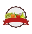 salad vegetables fresh icon vector image
