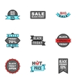 Sale icons set cartoon style vector image vector image