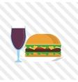 Sandwich design healthy food menu icon vector image vector image