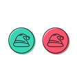 santa hat line icon christmas or new year sign vector image vector image