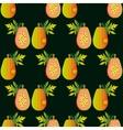 Seamless papaya pattern Harvest ornament Sliced vector image