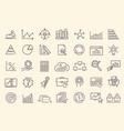 set data analysis statistics analytics icons vector image