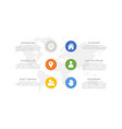 set green and blue yellow orange elements vector image