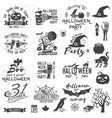 set halloween party concept and design elements vector image