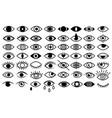 set stylized eyes for logos eye icon vector image
