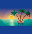 small island landscape subset vector image vector image