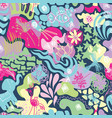 spring cheerful textile pattern vector image vector image
