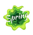 spring season composition in vector image vector image