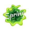 spring season composition vector image vector image