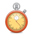 Stopwatch isolated on white vector image vector image