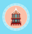 temple seoul landmark icon south korea travel vector image
