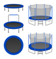 trampoline icon set realistic style vector image vector image