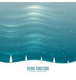 unique winter holidays landscape scene background vector image vector image