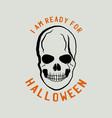 vintage halloween logo typography badge graphics vector image