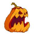 volumetric drawing of a pumpkin for halloween vector image vector image
