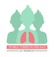 world tuberculosis day banner with people body and vector image vector image