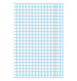 Blank squared paper vector image
