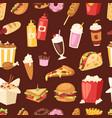 fast food unhealthy cartoon burger sandwich vector image