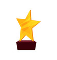 gold star award golden first place prize cartoon vector image