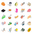 new collection icons set isometric style vector image