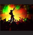 disco design with girl eps10 vector image