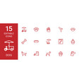 15 dog icons vector image vector image