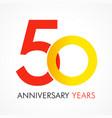 50 circle anniversary logo vector image vector image