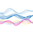 abstract bright colored wave lines on a white vector image