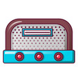 antique radio icon cartoon style vector image vector image