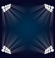 background with four lights vector image vector image