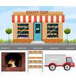 bakery production project detailed flyer vector image vector image