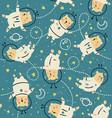 bearstronauts pattern vector image