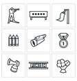 Biathlon icons set vector image vector image