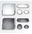 black and white button set the design vector image vector image