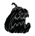 black evil halloween pumpkin pattern on white vector image vector image